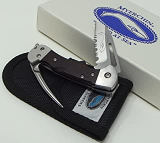 Myerchin Knives Tested at Sea WF377P Crew Rigging Knife 3/4 Serrated Blade and Marlin Spike
