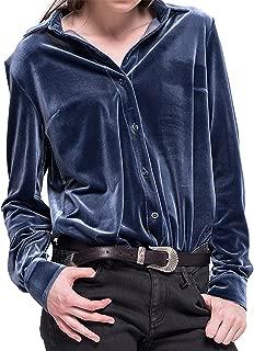 Best womens long sleeve velvet shirt Reviews