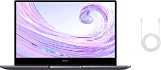 HUAWEI MateBook D 14-calowy laptop, FullView 1080p Full HD Ultrabook, 512GB PCIe SSD + 8GB RAM, AMD Ryzen 5 3500U, czytnik...