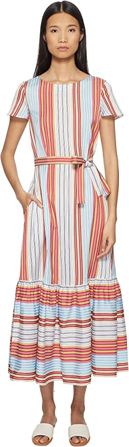 Stripe Dress w/ Ruffle Trim