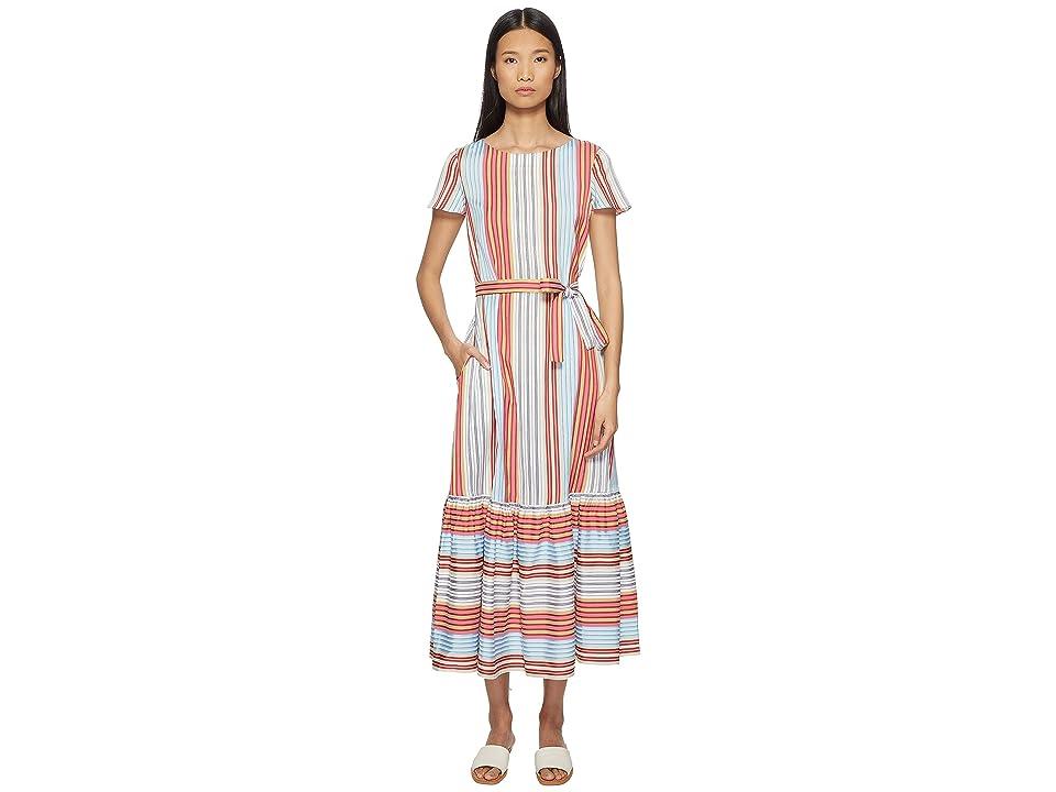 Paul Smith Stripe Dress w/ Ruffle Trim (Multi) Women