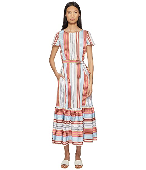 Paul Smith Stripe Dress w/ Ruffle Trim