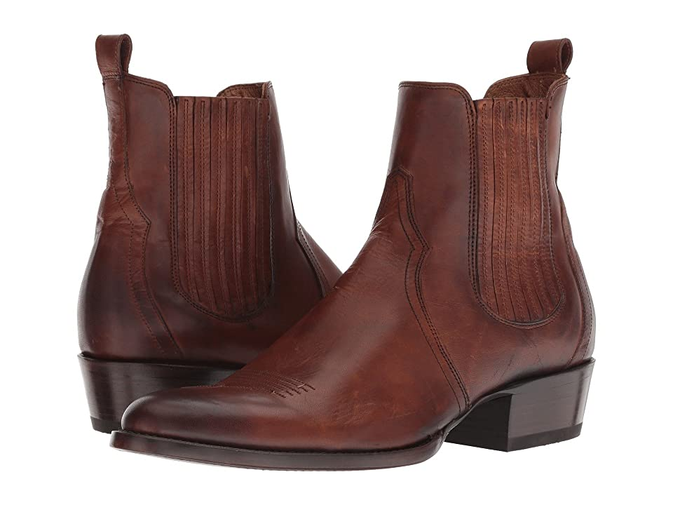 Frye Grady Chelsea (Cognac Antique Pull-Up) Men