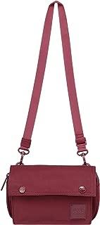 maroon messenger bag