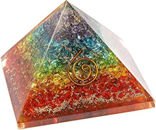 Crystals 7 Chakra Crystal Orgone Pyramid EMF Protection Meditation Yoga Energy Generator