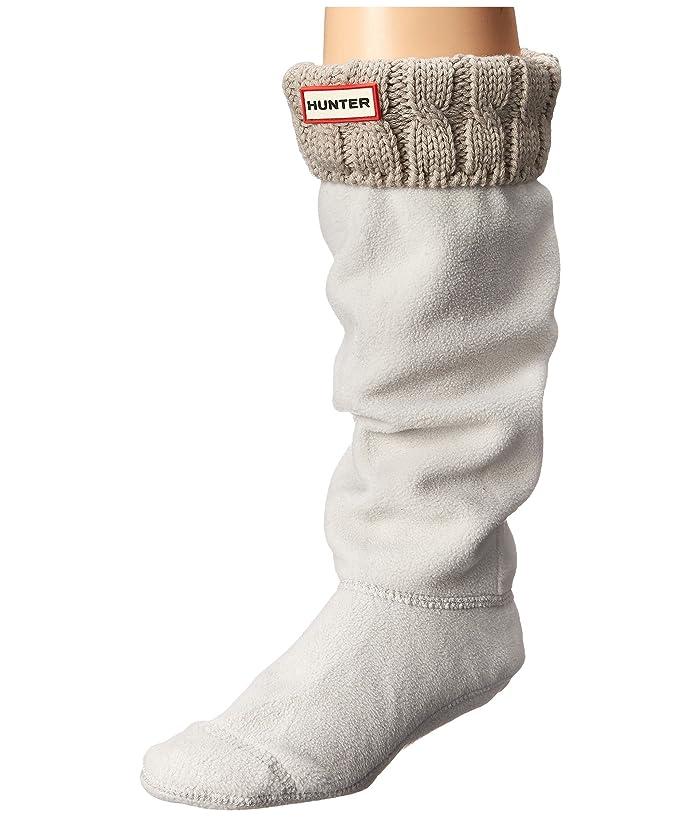 Hunter  6 Stitch Cable Boot Sock (Greige) Womens Crew Cut Socks Shoes