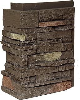 NextStone Country Ledgestone Faux Polyurethane Stone Outside Corner - Himalayan Brown - 4 Pack