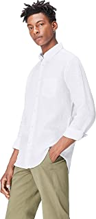 Marchio Amazon - find. - Regular Linen, Camicia Uomo