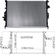 CPP Front Radiator Assembly for Volvo S60, S80, V70, XC60, XC70 RO3010114