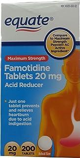 Equate Maximum Strength Acid Reducer Famotidine Tablets, 20 Milligram (200 Count)