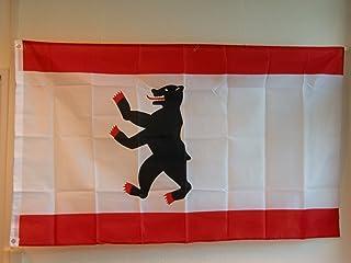 Berlin-flagga på cirkelns skala. 35 x 59 tum med 2 metallinsatser av profimmaterial