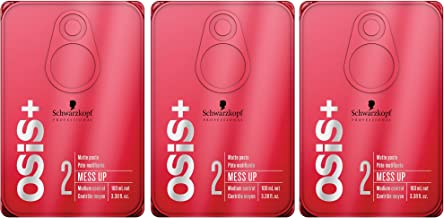 OSiS+ MESS UP Matte Paste, 3.38-Ounce (3-Pack)