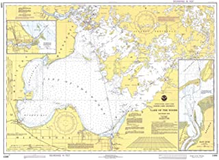 Map - Lake Of The Woods, MN, 1979 Nautical NOAA Chart - Vintage Wall Art - 44in x 32in