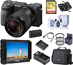 $1898 » Sony Alpha a6600 Mirrorless Digital Camera with 18-135mm Lens Field Monitor Bundle with Lilliput 7-inch Monitor, Bag, Battery, Charger, 64GB SD Card and Accessories