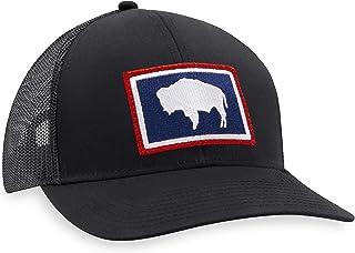 Wyoming Hat – Wyoming Flag Trucker Hat Baseball Cap State Flag Snapback Golf Hat