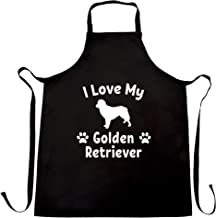 Dog Owner Chefs Apron I Love My Golden Retriever Black One Size