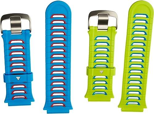 Garmin - Lot de 2 Bracelets de Rechange pour Forerunner 920XT - Bleu et Vert