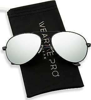 Aviator Full Silver Mirror Metal Frame Sunglasses