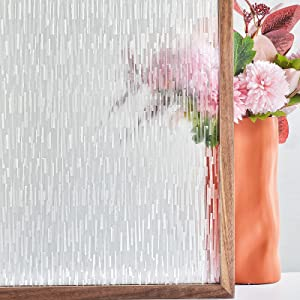 FEOMOS Ice Forest Window Film Decorative Glass Film Privacy Window Sticker Vinyl Static Cling Removable Glass Covering for Home Office Living Room UV Sun Blocking 23.6 x 78.7 inches