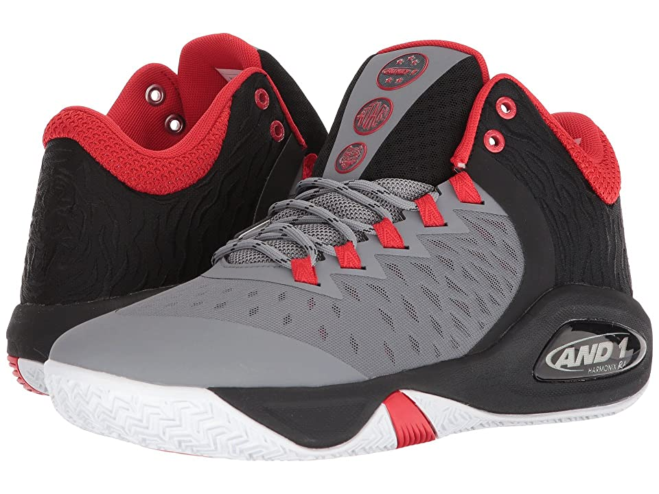 AND1 Attack Mid (December Sky/Black/ Fiery Red) Men