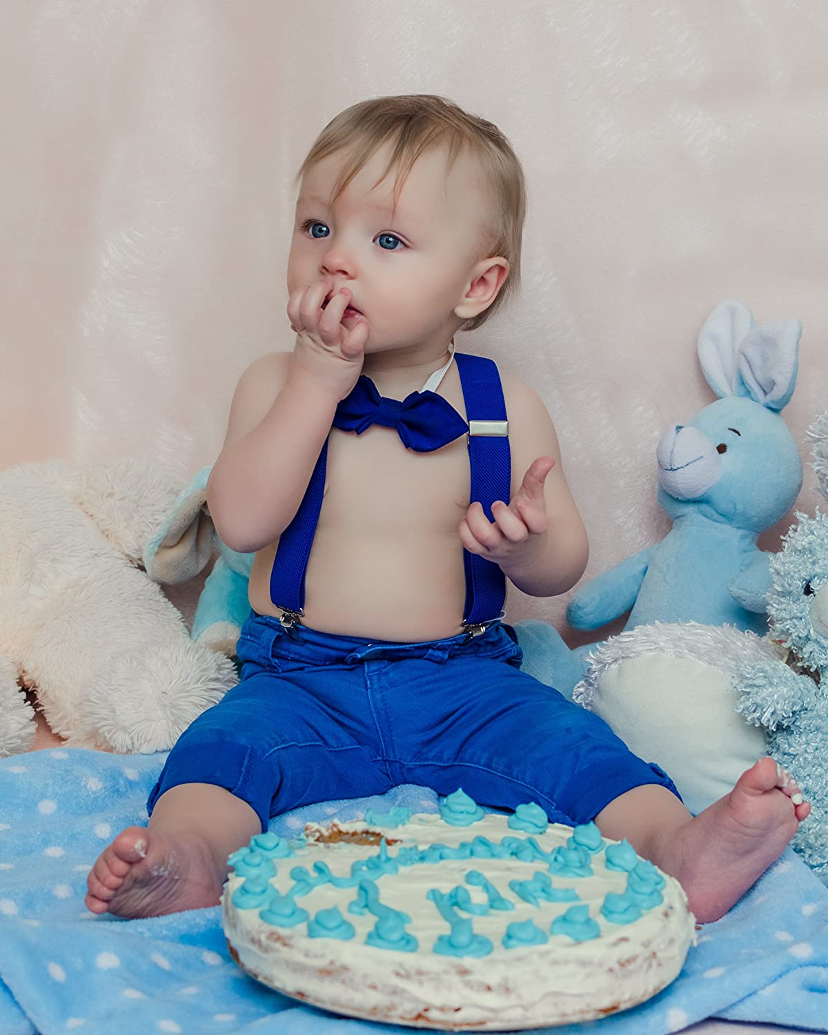 Elastic Y-Back Design with Strong Metal Clips Navisima Adjustable Suspender With Bowtie for Kids