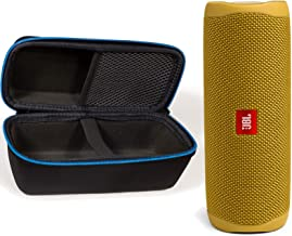JBL Flip 5 Waterproof Portable Wireless Bluetooth Speaker Bundle with divvi! Protective Hardshell Case - Yellow
