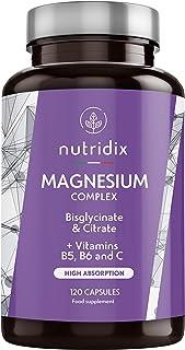 Magnesio 300 mg dosis - Bisglicinato y Citrato