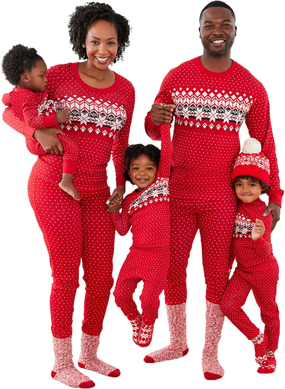 Matching Family Matching Kids Christmas Pajamas Pjs Sets with Ne