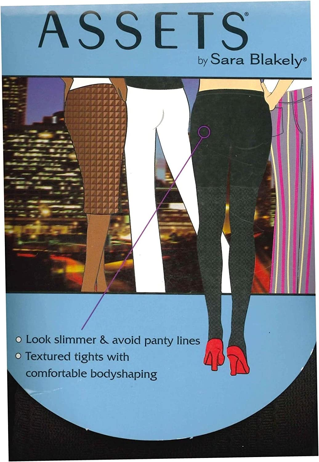 Assets by Sara Blakely Terrific Textured Multi Rib Tights (854) (2, Brown)