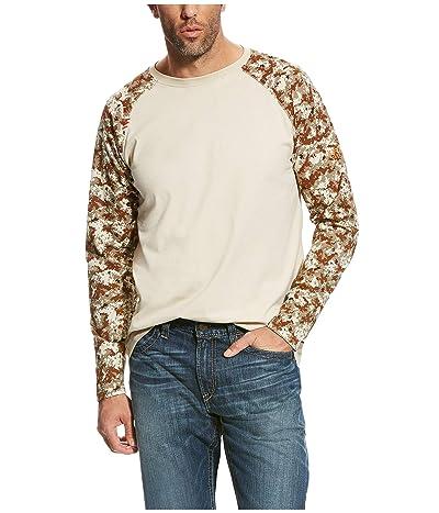 Ariat FR Baseball T-Shirt (Sand/Digi Camo) Men