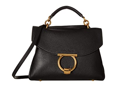 Salvatore Ferragamo Small Top-Handle Bag (Nero) Handbags