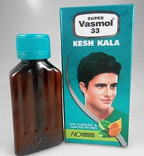 3x NEW Super Vasmol 33 Naturally Black 50ml Kesh Kala Hair Color Dye USA SELLER