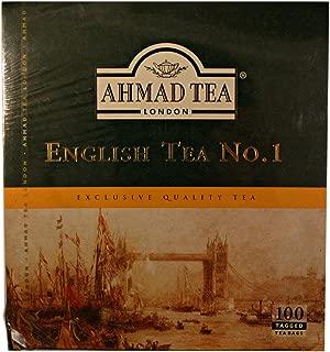 3 Boxes of Ahmad English Tea No. 1 - 100 Tagged Tea Bags Each