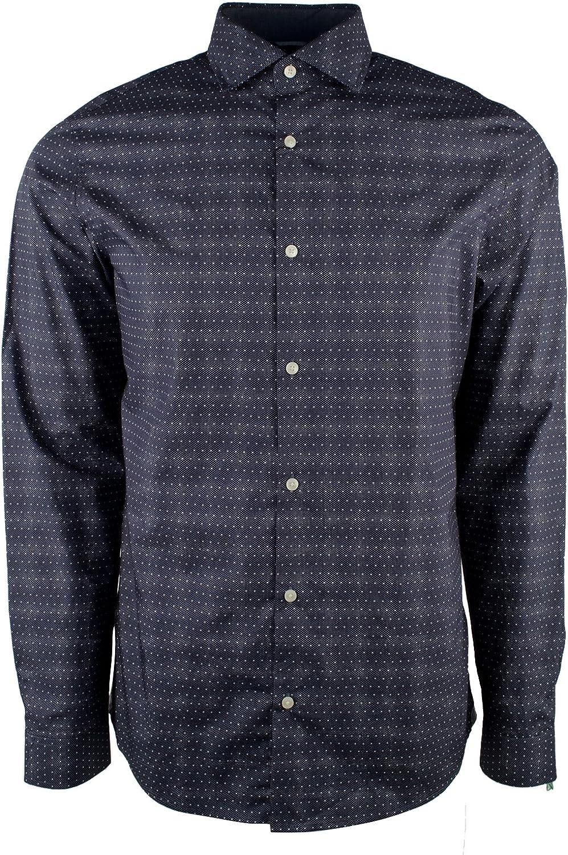 Michael Kors New life service Men's Long Sleeve Dot Print Shirt Slim Fit