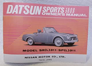 1969 Datsun SPL / SRL311 1600 / 2000 REPRINT Owner's Manual by The Datsun Roadster Book