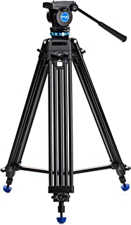 Benro KH25P Video Tripod with Head, 5kg Payload, Continuous Pan Drag, Anti-Rotation Camera Plate