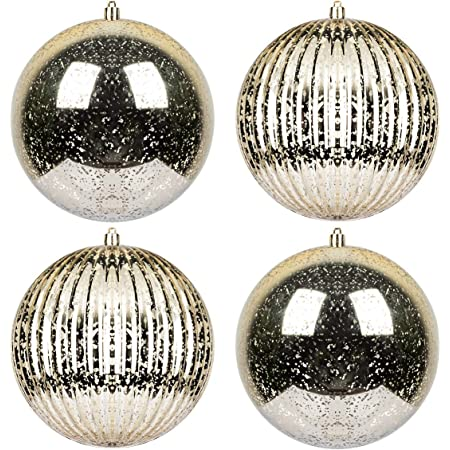 Vintage Christmas Ornaments Set of 4