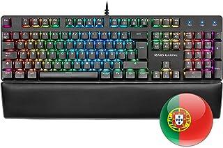Mars Gaming MK5, teclado mecánico switch azul, RGB, software, reposamuñecas, PT
