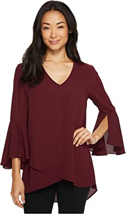 Karen Kane - Split Sleeve Asymmetric Hem Top
