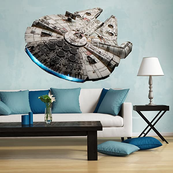 Full Color Millennium Falcon Decal Large Millennium Falcon Millennium Falcon Decal Millennium Falcon Wall Decal Full Color Star Wars Decal Falcon Wall Decall Pf36 46 X 58