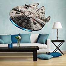 Full color millennium falcon decal, large millennium falcon, millennium falcon decal, millennium falcon wall decal, full color star wars decal, falcon wall decall pf36 (22