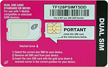 Straight Talk 2014 Version Micro SIM Card Compatible with T-Mobile or Unlocked GSM Devices