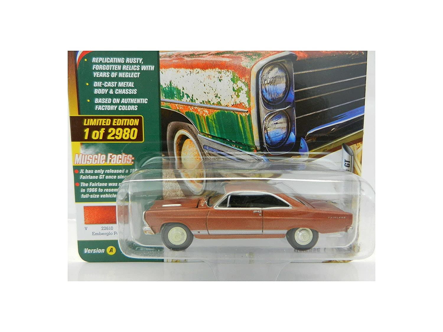 2018 Johny Lightning BARN Finds Emberglo Fairlane Fordd 1A Ranking TOP12 1966 Cash special price