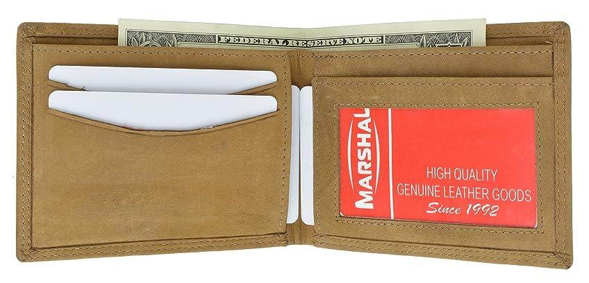 社員凝縮する折るハンターレザー二つ折りメンズ財布ブラウン# hu1160