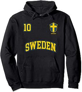 Sweden Team Hoodie No. 10 Sports Swedish Flag Soccer Shirt