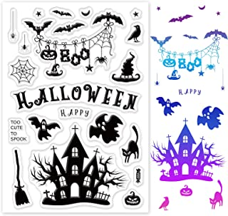 GLOBLELAND Halloween Tampons Silicone Tampon Joint en Silicone Joint de Motif de Fantôme Araignée Chauve-Souris Château Ta...