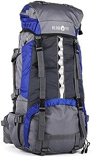 Heyerdahl-2014 - Mochila de trekking 85+10 L (funda impermeable, 2 secciones separadas, zona extraible, asas ajustables, sujeciones para bastones, cascos, sacos de dormir camping)