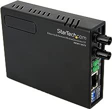 StarTech.com MCM110ST2EU - Conversor de Medios Ethernet 10/100 RJ45 a Fibra óptica multimodo