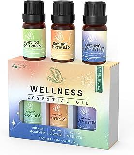 ASAKUKI Coffret Huiles Essentielle de Bien-être 3x10mL- Wellness Kit Mélange d'Huile Aromathérapie 100% Naturelle, Pour Él...