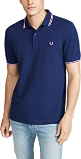 0401d1b7f Fred Perry Men s Twin Tipped Polo Shirt M3600 I12 Navy